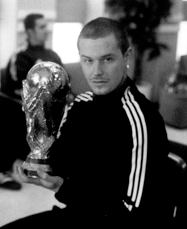Andy holding the World Cup